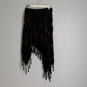 Bebe 100% Silk Gypst Skirt- XS